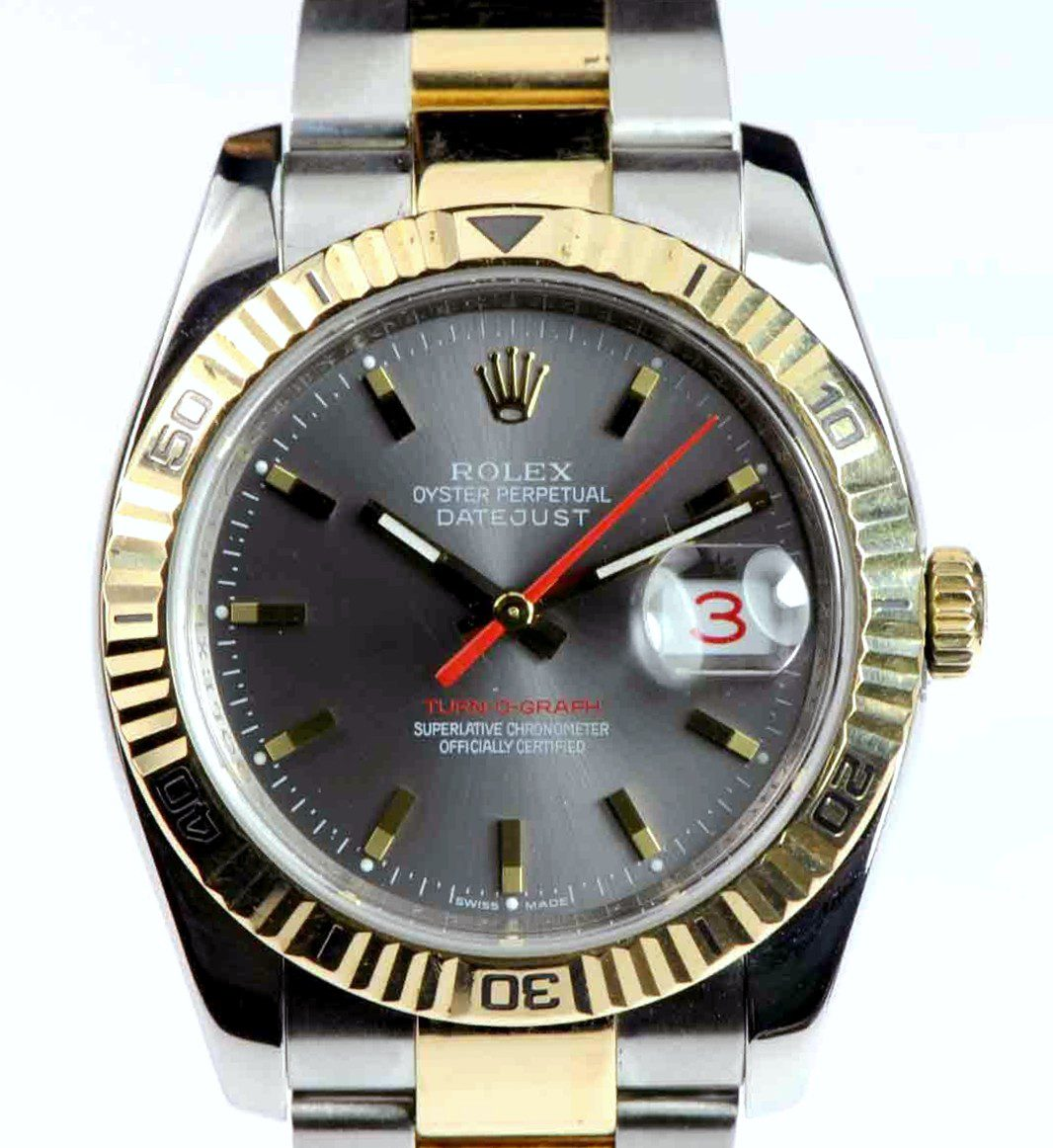 Rolex DateJust Turn-O-Graph Stainless Steel & 18kt Yellow gold Ref: 116263