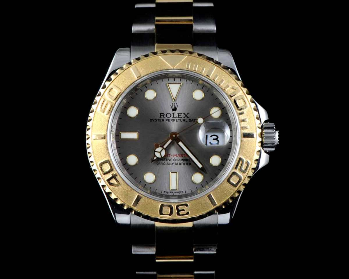 Rolex 18KT Yellow Gold Stainless Steel Yachtmaster 16623